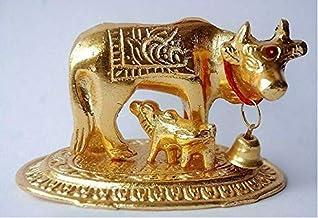 Vibrant-Gujarat Kamdhenu Cow and Calf Idol Hindu Religious Home Decor Return Gift