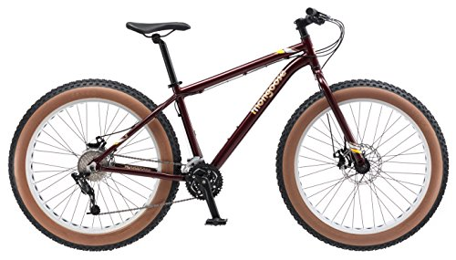 Mongoose Vinson Fat Tire Mountain Bike, Featuring Rigid 18-Inch Aluminum Frame, 24-Speed Shimano/SRAM X4 Drivetrain, Dual Mechanical Disc Brakes, and Alloy 26x4-Inch Wheels, Burgundy
