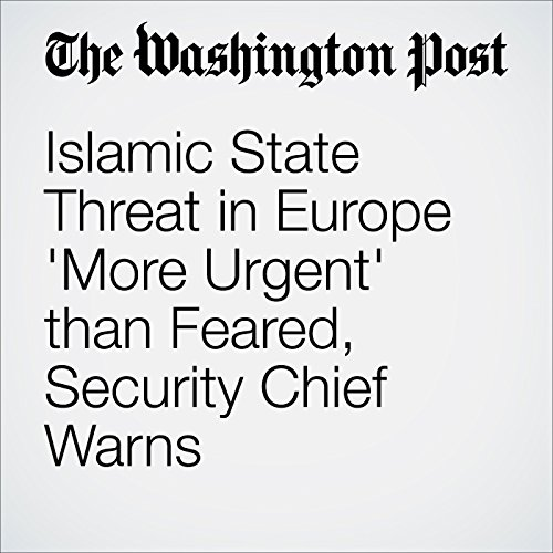 Islamic State Threat in Europe 'More Urgent' than Feared, Security Chief Warns cover art