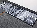 Primaflor – Ideen in Textil Küchenläufer Waschbar 50 x 150 cm First Coffee Grau Schmutzfangläufer rutschfest, Küchenteppich, Küchenvorleger Teppich Läufer Flur - 4