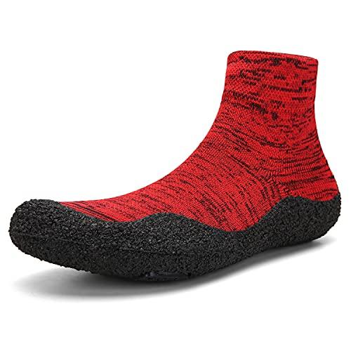 Zapatos de agua, zapatos de yoga, calcetines, se pueden plegar en el bolsillo, unisex, color Rojo, talla 42 2/3 EU