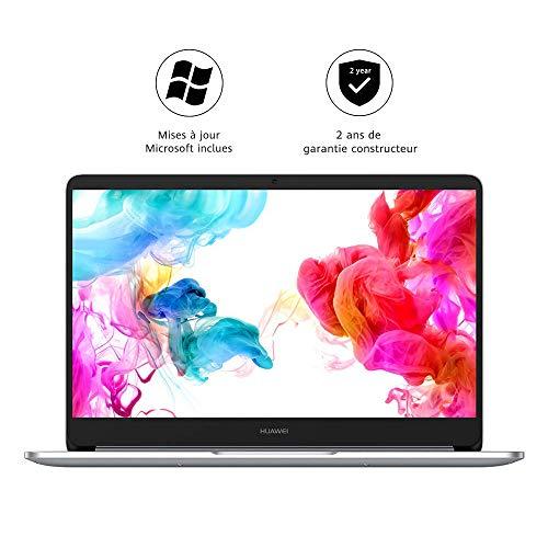 "HUAWEI MateBook D - PC Portable - 14"" FHD (AMD Ryzen™ 5 2500U, 8Go RAM, 256Go SSD, Clavier français AZERTY) - Argent"