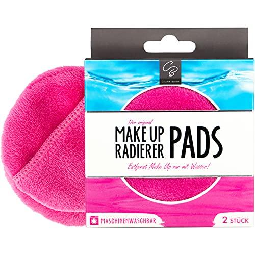 Der original MakeUp Radierer | Microfaser Abschminktuch (PAD | 2 Stück, Pink)