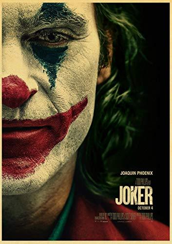 Sin Marco Joaquin Phoenix Joker Movie s Wall Art Pittura Stampa su caffè Poster retrò Immagini Decorazioni per la casa di Halloween 60x90cm