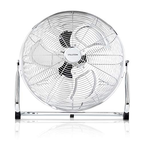 Stillstern Bodenventilator (50cm) 120 Watt stufenlos neigbar und hoher Luftdurchsatz, Ventilator, Standventilator, Bodenventilator, Windmaschine
