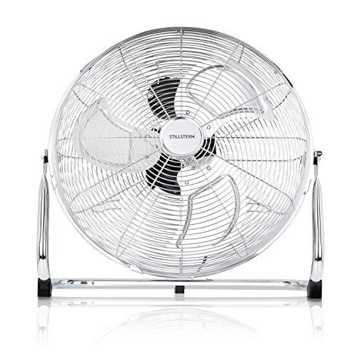 Stillstern Ventilator (50cm) 120 Watt stufenlos neigbar und hoher Luftdurchsatz, Luftkühler, Standventilator, Bodenventilator, Windmaschine, Raumkühler