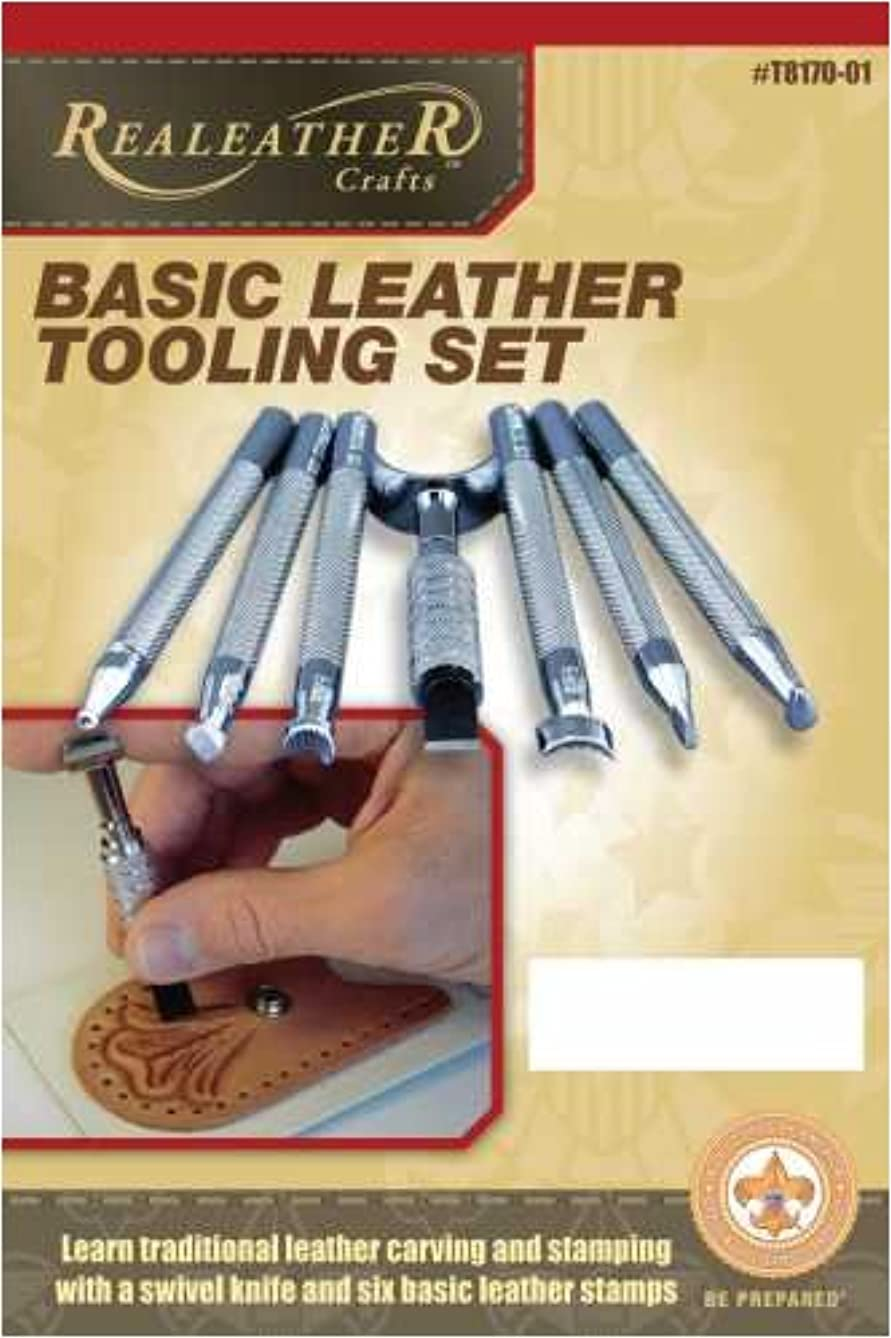 Real Leather Crafts T8170-01 Basic Leather Tooling Set
