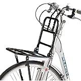 Fahrrad Frontgepäckträger Vorne Frontträger Gepäckträger universal 24 bis 28'Holland Style Universalträger max. Zuladung 15kg (Schwarz)