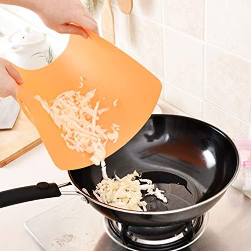 SeniorMar-UK Extra ultradünne, Flexible Kunststoff-Küchenschneidebrettmatten mit griffigen Griffen BPA-frei spülmaschinenfest