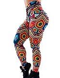 Mallas Deporte Mujer Leggins Fitness Push up Running Yoga Pantalón Medias Deportivas Multicolor 3D Impresión Arco Iris Gym Pantalones Deportivos Elástico Polainas para Pilates Ejercicio (E, M)