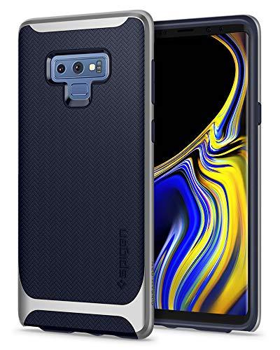 Spigen [Neo Hybrid Samsung Galaxy Note 9 Hülle (599CS24593) Zweiteilige Handyhülle Modische Muster Silikon Schale & PC Rahmen Schutzhülle Hülle (Arctic Silver)