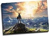 ARYAGO Impresión moderna de la leyenda de Zelda Breath of the Wild de 76,2 x 50,8 cm con marco para videojuegos, arte para pared, sala de estar, dormitorio, estirado y listo para colgar