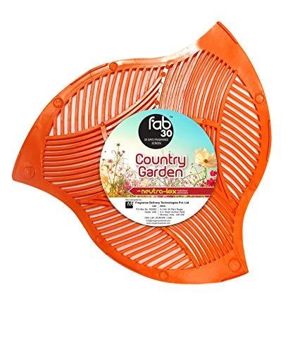 Oxygen-Pro - FAB 30 Urinal Screen Deodorizer, Urinal Mat, Splash Urinal Screen with 30 Day Fragrance Screen, Country Garden, Pack of 12
