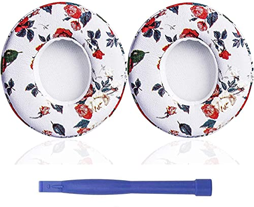 Beats Solo 3 Wireless Ear Pads Replacement Black Floral and White Floral Bundle