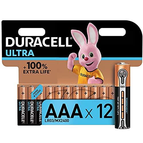 Duracell Ultra AAA Alkaline Batteries [Pack of 12], 1.5 V LR03 MN2400 ,...