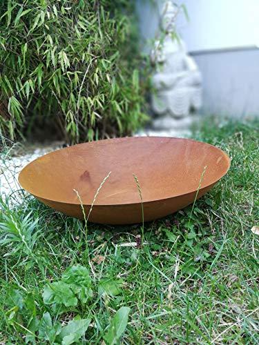 Zen Man Edelrost Garten Feuerschale Garten Schale Pflanzenschale Rost Metall Gardendeko 50cm 1mm T=12.5cm