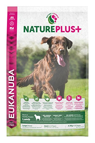 Eukanuba Nature Plus - Crocchette per Cani Adulti di Taglia Grande, Gusto Agnello - 14 Kg