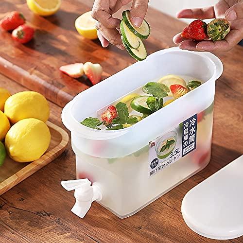 JSJJAUJ Hervidor frío Hervidor de Calor Resistente al Calor Tetera de Tetera Creatividad refrigerador japonés plástico Agua Jarra Salud Cocina Suministros Interruptor (Capacity : 3.5L)