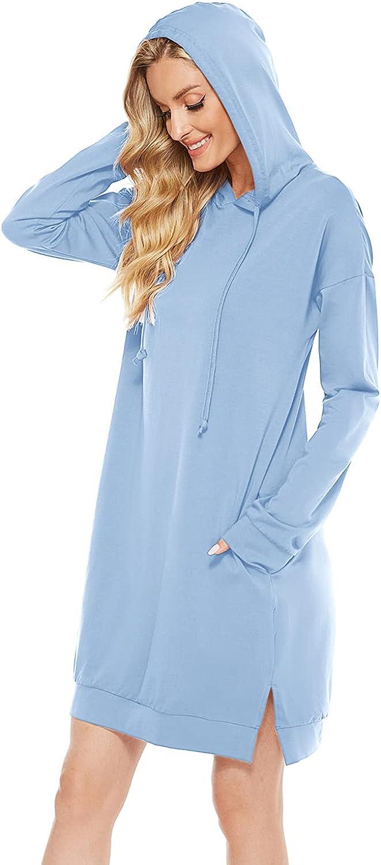Maintain Vigour Women's Lightweight Long Spring new New Shipping Free Shipping work Hood Dress Tunic Hoodie