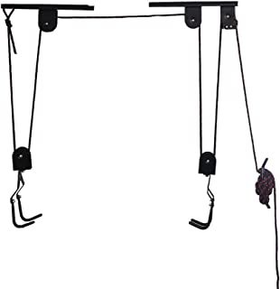 Arltb Bike Lift Hoist for Garage Bicycle Ceiling Hoist Ceiling-Mounted Bike Lift Pulley Hanging System 50lbs Capacity Steel Strong Durable for Mountain Bikes Road Bikes Dirt Bikes