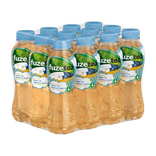 Fuze Tea Grüner Tee Blaubeere und Jasmin kalorienarm 400ml 12er Pack