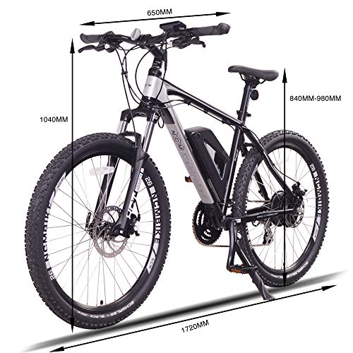 Prague Electric Mountain Bike 468Wh 36V/13AH Matte Black 26'