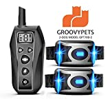 Best 2 Dogs Collars - GROOVYPETS 2000 Feet Remote Dog Training Shock Collar Review