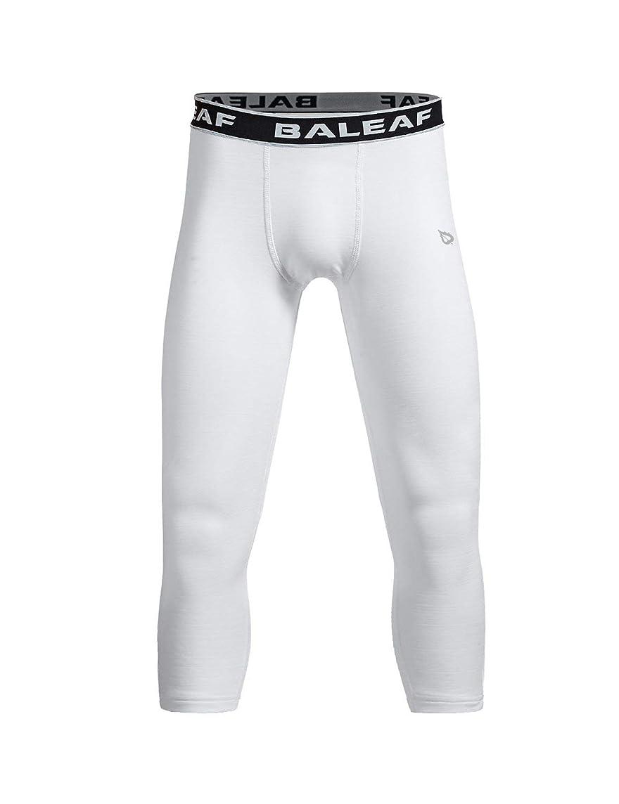 Baleaf Youth Boys' Compression Pants 3/4 Leggings Soccer Basketball Baselayer Tights