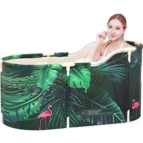 Brausen & Duschen Badewanne Einfache Und Bequeme Badewanne for Erwachsene Mode-Faltbadewanne Dick Isolierte Badewanne Haushaltsbadewanne for Kinder (Color : Green, Size : 120 * 55 * 60cm)