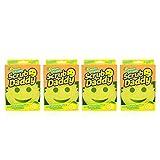 Scrub Daddy Lemon Fresh Scrubber (Pack of 4)