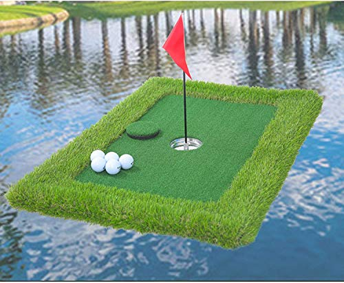 TOKUJN Golf Putting Green Backyard Game, Green Green Floating Green For Pool, 35x23inch