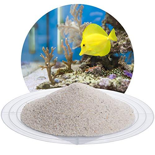 Schicker Mineral Aquariumsand Aquariumkies weiß im 25 kg Sack, kantengerundet, gewaschen, ungefärbt (0,5-1,0 mm)
