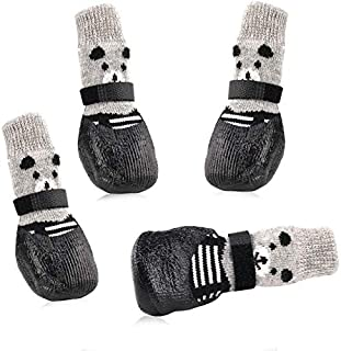 Payanwin Dog Cat Boots Shoes Socks with Adjustable Waterproof Breathable and Anti-Slip Sole All Weather Protect Paws 4PCS,Only for Small Dog