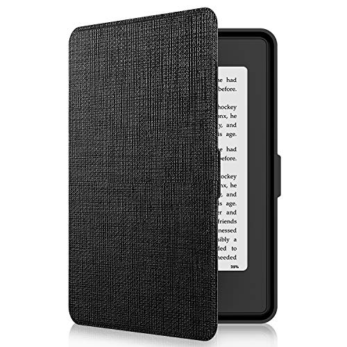 Tsing Kindle Paperwhite Custodia in Pelle Sintetica Chiusura Magnetica Ultra Sottile - Compatibile con de Kindle Paperwhite 1/2/3 (Red)