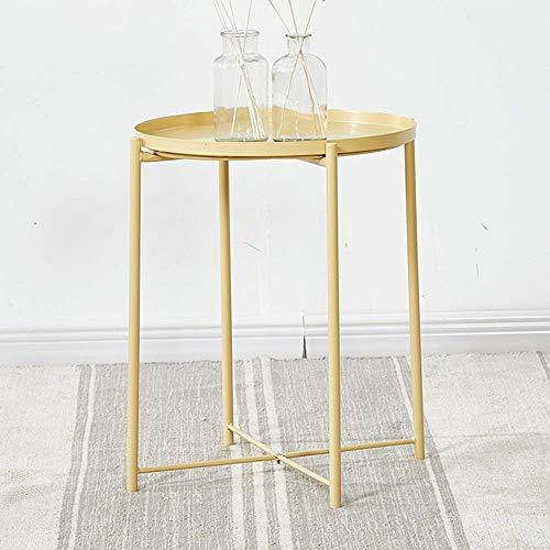 NBVCX Möbeldekoration Klapptablett Beistelltisch Zusammenklappbarer Beistelltisch aus Metall Couchtisch Grün Weiß Gelb 45 * 53 cm (Farbe: GRÜN) (Farbe: Gelb)