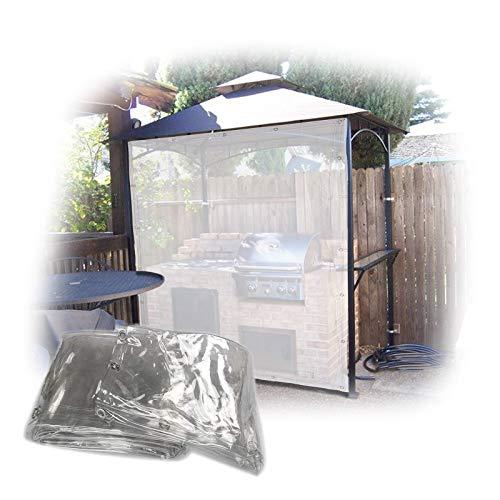 Lona MYAN Impermeable, Toldo Transparente El Plastico Película PVC Lluvia/Viento Proteccion para Balcón Abrigo, Resistente Al Desgarro (Color : Clear, Size : 1.5M X 4M)