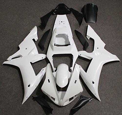 ZXMOTO Motorcycle Fairing Kit for 2002 2003 Yamaha YZF R1 ABS Plastic Full Body Fairing Kit (Unpainted, Pieces/kit: 16)