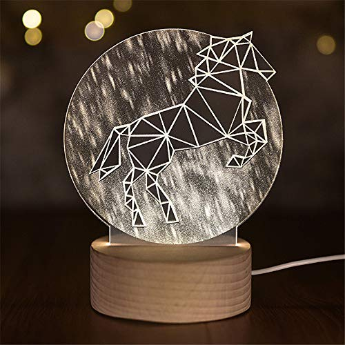 Nachtlicht Für Kinder, 3D Visuelle Illusion Dekor Tisch Schreibtisch Led-Lampe Mit Touch-Steuerung, Farbwechsel Nacht Dekor Lampe Für Kinderzimmer, Geburtstagsgeschenk, Weihnachtsgeschenk