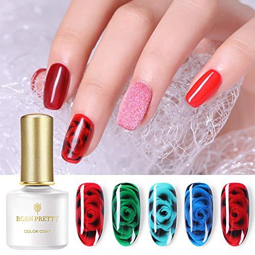 BORN PRETTY Blossom Gel Polish Soak Off White Clear gel Long Lasting Nail Art manicuring UV Polish 2 Colors