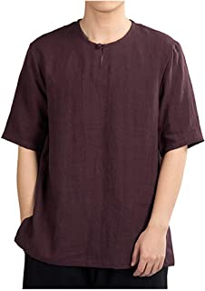 Mote Mens Clothes, Mens Hipster Solid Color Button Fashion Slim Stretch Short Sleeve