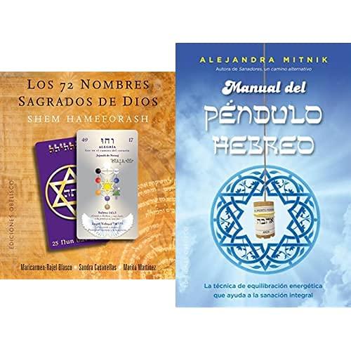 Obelisco Los 72 Nombres Sagrados De Dios. (Libro + 73 Cartas) (Cartomancia) + Manual Del Péndulo Hebreo (Feng Shui)