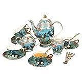XCTLZG 21 Pieces Afternoon Tea Set Coffee Cup Set British Royal Tea Sets High Grade Bone China Cups Tea Sets for Adults Birthday Wedding Gift