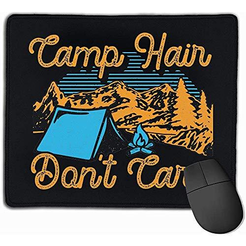 Camp Hair Don't Care Rectangular Alfombrilla de ratón de Goma Antideslizante Alfombrilla de ratón para Juegos 25X30cm