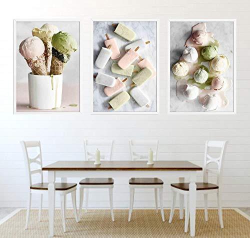 Lienzo de pintura, carteles e impresiones, cuadros de pared para cocina, hornear, cafetería, arte de pared, decoración del hogar, 30x50cmx3 sin marco