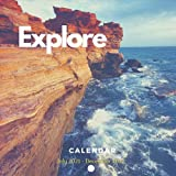 Explore Calendar July 2021 - December 2022: 18-Month Wall Calendar | Quotes & Photography Collection About Travel and adventures each month (Monthly Calendar with 8.5' x 8.5' size )