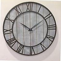 広いレトロな壁掛け時計 屋内屋外装飾ミュートクォーツウォールクロック ドゥーンガーデン時計 シンプルでモダンな屋外の壁掛け時計ビニールレコードの家の装飾のための大きな時計 (B,40CM)
