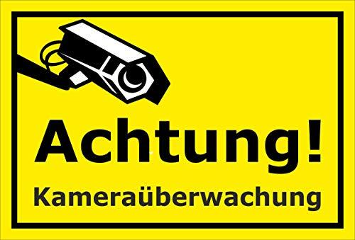 Melis folieverksstatt skylt – kameraövervakning – 60 x 40 cm | borrhål | 3 mm hårt skum – S00348-124-C 20 VAR