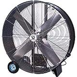 Strongway Open Motor Belt-Drive Drum Fan - 48in. 9/10 HP, 19,500 CFM