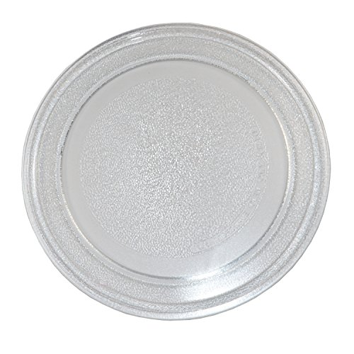 """HQRP 9.6"""" 24.5cm Glass Turntable Tray Compatible with Small Microwaves GE General Electric, Hamilton Beach, RCA, Sunbeam Oster LG Goldstar Kenmore Haier Emerson Microwave Oven Plate 9-5/8-inch 245mm"""