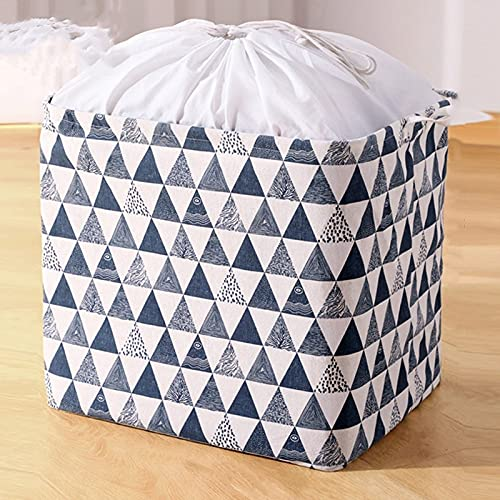 JSJJAKM - Cestino per vestiti da casa, grande contenitore di stoffa, borsa per lo spostamento dei vestiti, pieghevole (colore: Blu L)
